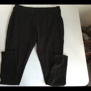 FADED GLORY Leggings Black Size Large